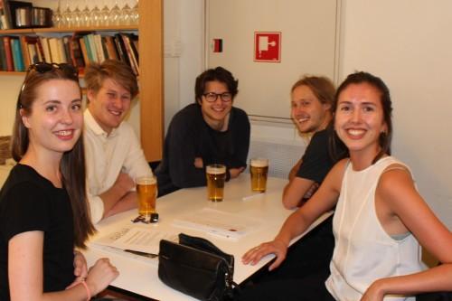 Det unge laget Quizlaminering av Norge, fra venstre: Oda Heier, Erling Heldaas, Ferdinand Mowinckel, Petter Blix og Oda Groner.